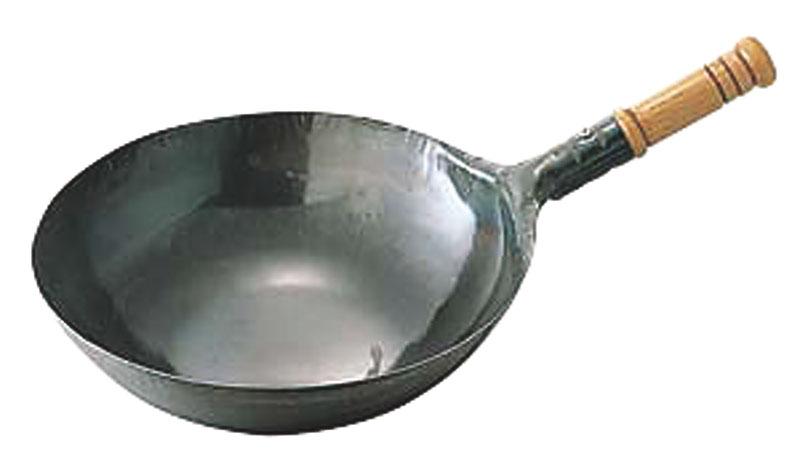鉄打出木柄片手中華鍋(北京鍋)