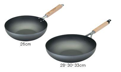 神田鉄鍋 平底炒め鍋(窒化処理)